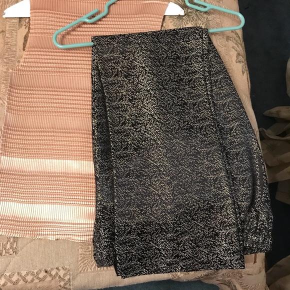 383571fb66ea Pants | Goldblack Textured Flared Dressy Outfit | Poshmark